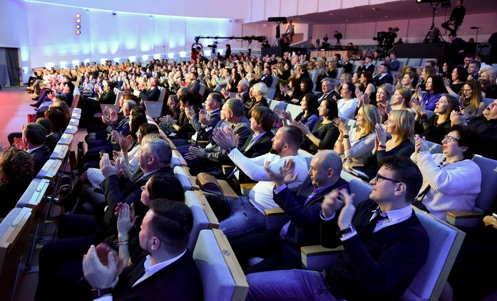 Награждение брендов-лидеров в Национальной библиотеке Беларуси сопровождалось концертным шоу с участием популярных белорусских музыкальных коллективов и исполнителей