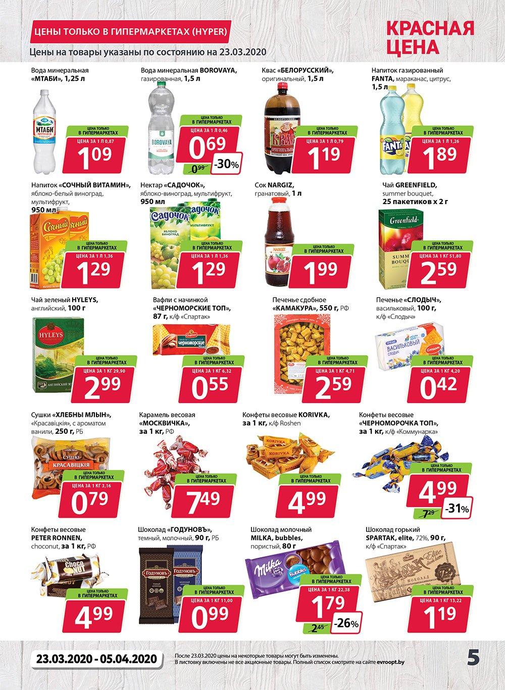Красная цена на овощи и фрукты